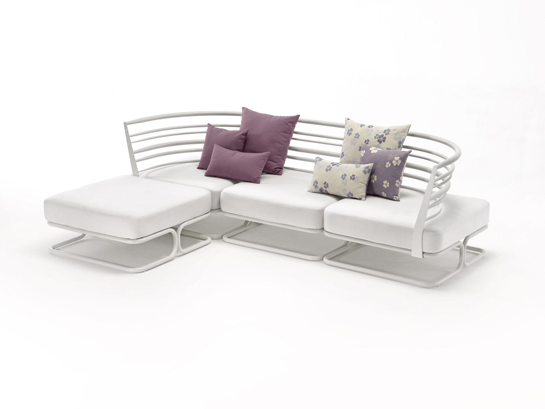 Soft ware tr fle outdoor kissen f r den au eneinsatz 55 x 55 cm 55 x 55 cm violett beige - Outdoor kissen fur loungemobel ...