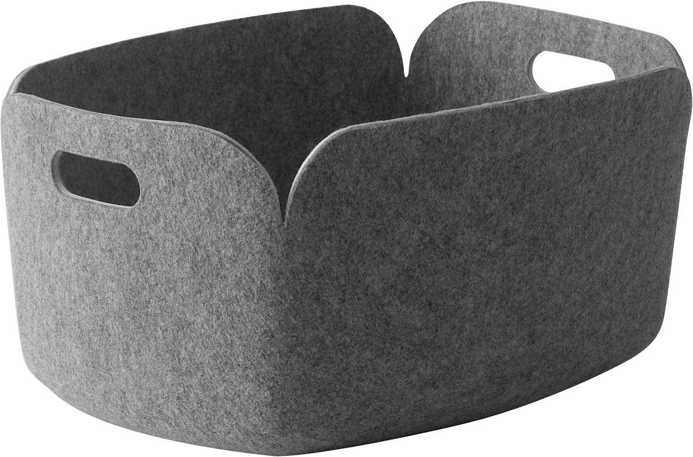 Déco - Paniers et petits rangements - Panier Restore / Feutre - 35 x 48 cm - Muuto - Gris clair - Feutre recyclé