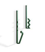 Patère Zag Set de 2 Acier La Chance vert en métal