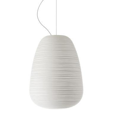Lighting - Pendant Lighting - Rituals 1 Pendant by Foscarini - White/ Ø 24 x H 34 cm - Mouth blown glass