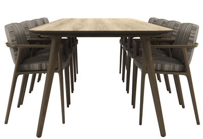 Furniture - Dining Tables - Zio Rectangular table by Moooi - Cinnamon - Solid oak
