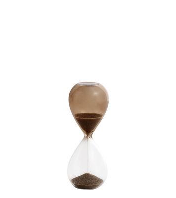 Cuisine - Ustensiles de cuisines - Sablier Time Small / 3 minutes - H 9 cm - Hay - Transparent / Nude - sable, Verre