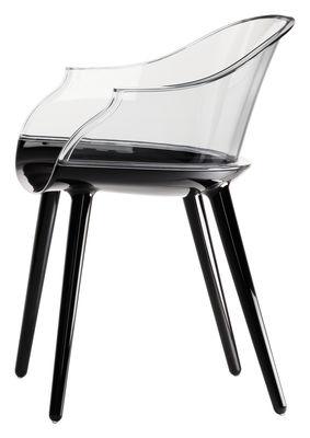 Cyborg Sessel Rückenlehne Polycarbonat - Magis - Schwarz,Transparent