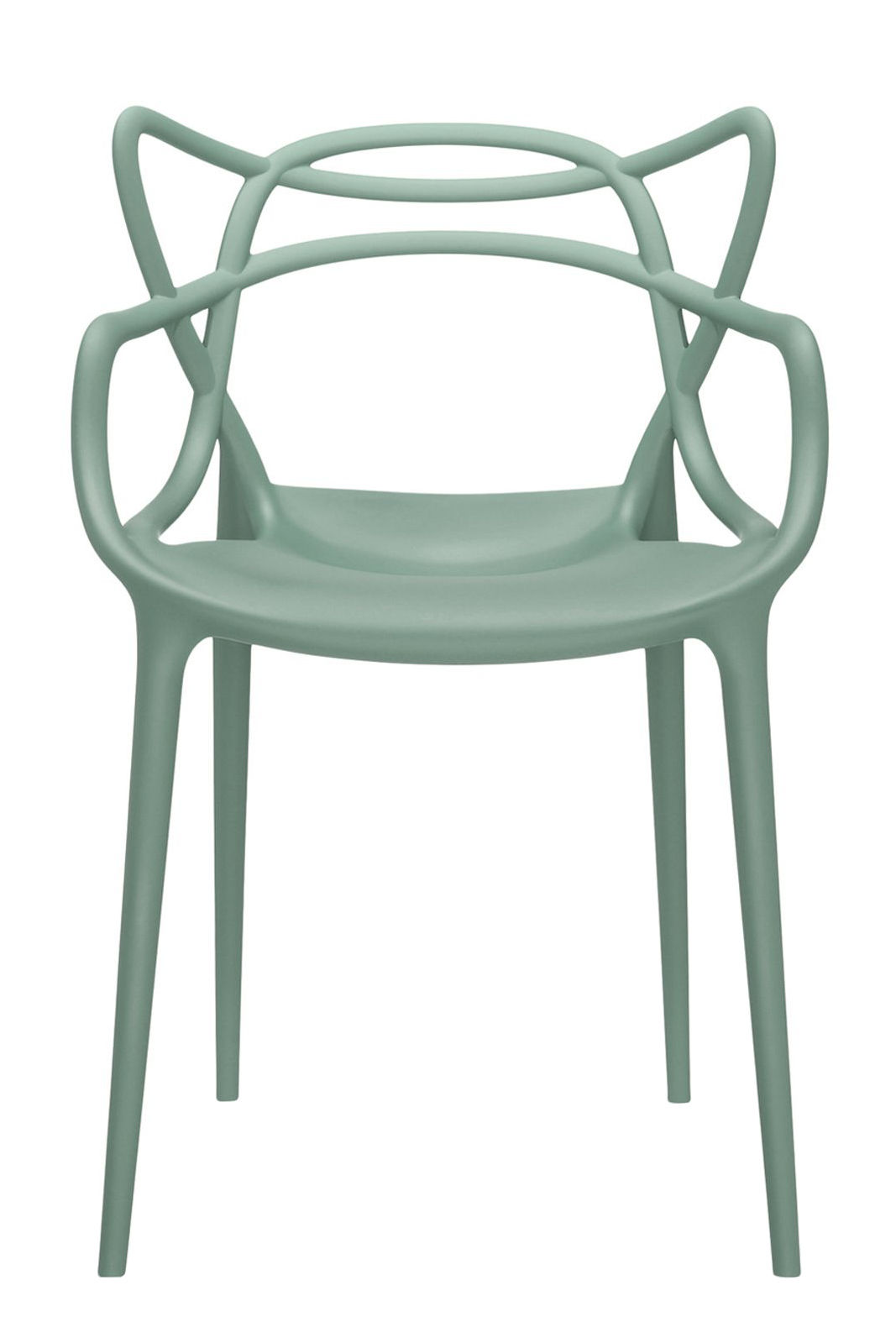 Furniture - Chairs - Masters Stackable armchair - Plastic by Kartell - Green sage - Polypropylene