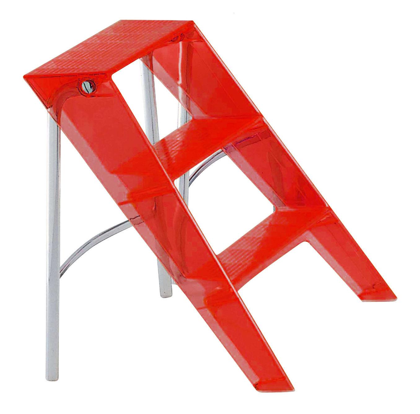 Furniture - Miscellaneous furniture - Upper Stepladder by Kartell - red orange - Polycarbonate