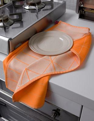 Cucina - Grembiuli e Strofinacci - Strofinaccio S&B - lotto da 2 di Hay - Hanging Grid (Arancione fosforescente e blu chiaro) - Cotone