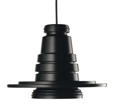 Luminaire - Suspensions - Suspension Tool - Diesel with Foscarini - Ø 13 cm - Noir - Gomme de silicone