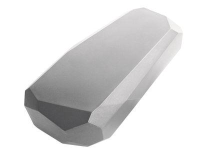 Table basse Meteor Large / 117 x 69 cm - Serralunga gris en matière plastique