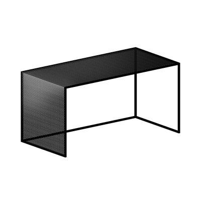 Table basse Tristano / 80 x 40 cm x H 40 cm - Résille d'acier - Zeus noir en métal