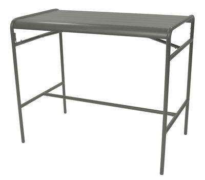 Table haute Luxembourg / 4 personnes - 126 x 73 cm - Aluminium - Fermob romarin en métal