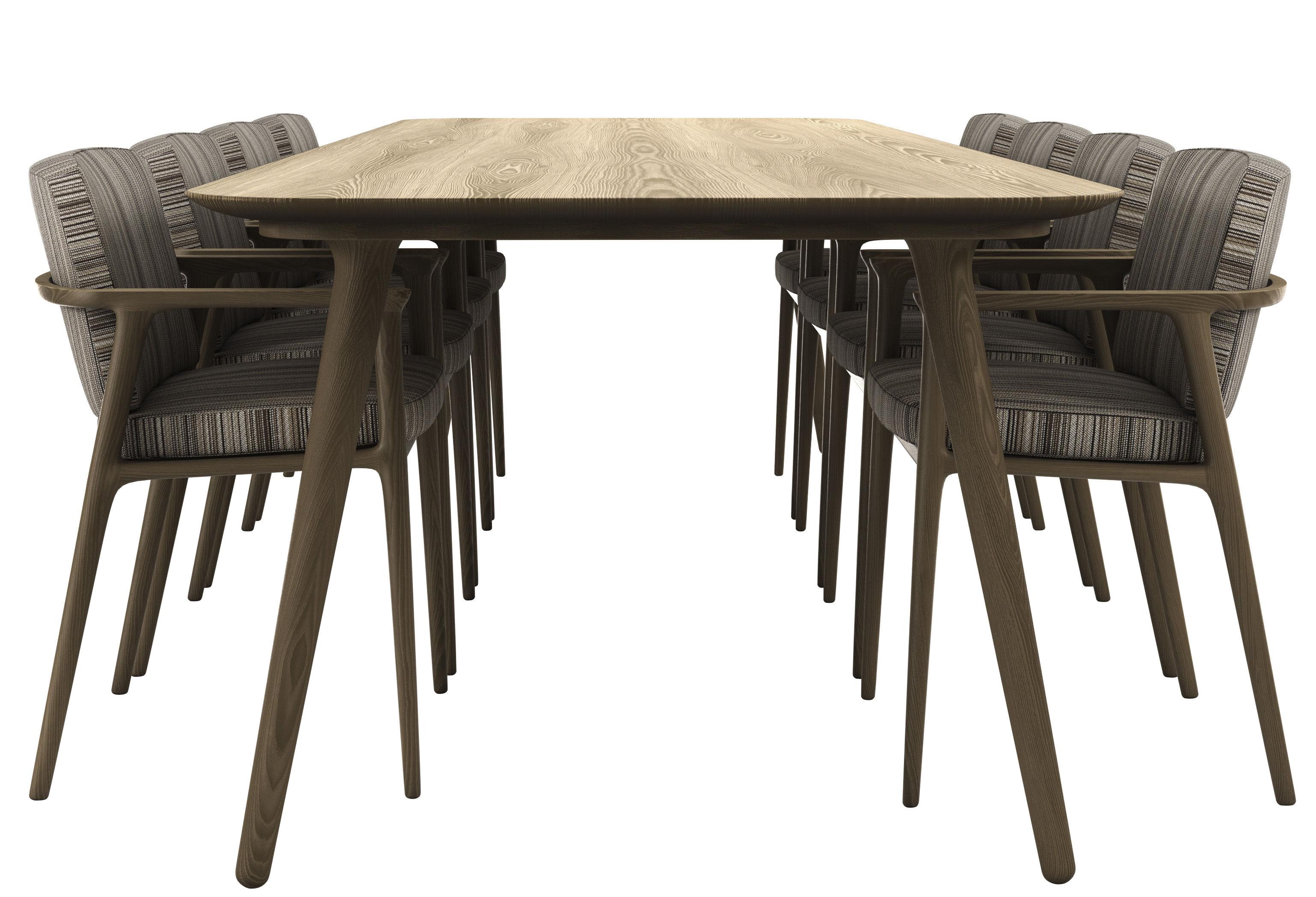 Mobilier - Tables - Table rectangulaire Zio / 190 x 90 cm - Moooi - Chêne cannelle - Chêne massif