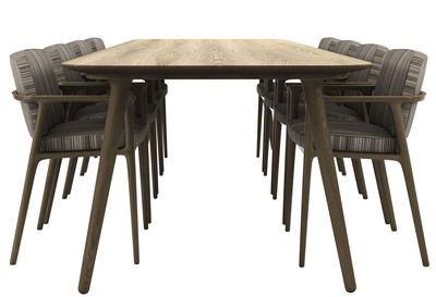 Arredamento - Tavoli - Tavolo rettangolare Zio - / 190 x 90 cm di Moooi - Rovere cannella - Rovere massello