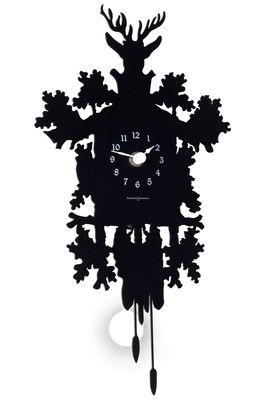 Decoration - Wall Clocks - Cucù Mignon Wall clock - with pendulum - H 34 cm by Diamantini & Domeniconi - Black - Steel