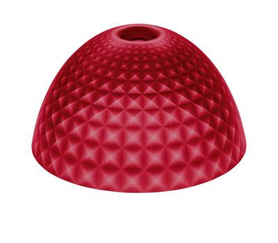 Abat-jour Stella Medium / Ø 43,5 cm - Koziol rouge transparent en matière plastique