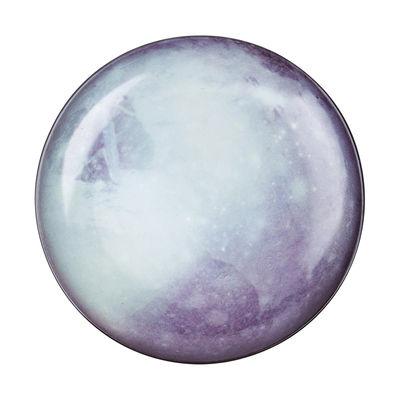 Assiette Cosmic Diner Pluton / Ø 26 cm - Diesel living with Seletti bleu,gris,noir en céramique