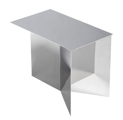 Slit Oblong Beistelltisch / 49 x 27 cm - Metall - Hay - Miroir poli