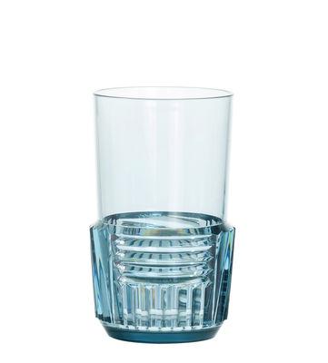 Image of Bicchiere Trama Large - / H 15 cm di Kartell - Blu - Materiale plastico