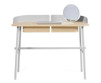 Bureau victor gris clair bois naturel hartô made in design