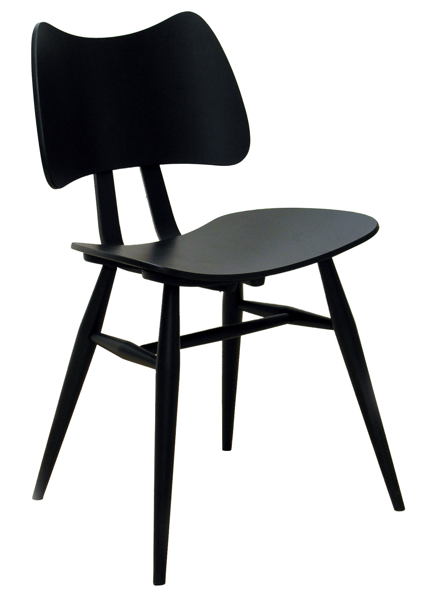 Furniture - Chairs - Butterfly Chair - Wood - Reissue 1958 by Ercol - Black - Contreplaqué de orme, Natural beechwood