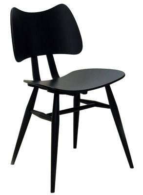 Mobilier - Chaises, fauteuils de salle à manger - Chaise Butterfly / Bois - Réédition 1958 - Ercol - Noir - Contreplaqué de orme, Hêtre massif