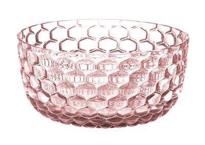 Arts de la table - Saladiers, coupes et bols - Coupelle Jellies Family / Ø 14 cm - Kartell - Rose - Technopolymère thermoplastique