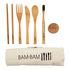Kit repas en bambou Bam Bam / Couverts & brosse à dents - Ecologique - Cookut