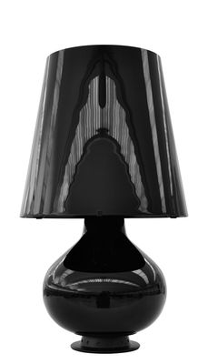 Lampe de table Fontana Medium / H 53 cm - Verre - Fontana Arte noir brillant en verre