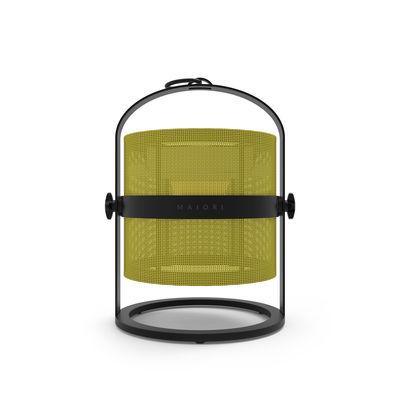 Lampe solaire La Lampe Petite LED / Hybride & connectée - Structure charbon - Maiori citron,charbon en métal