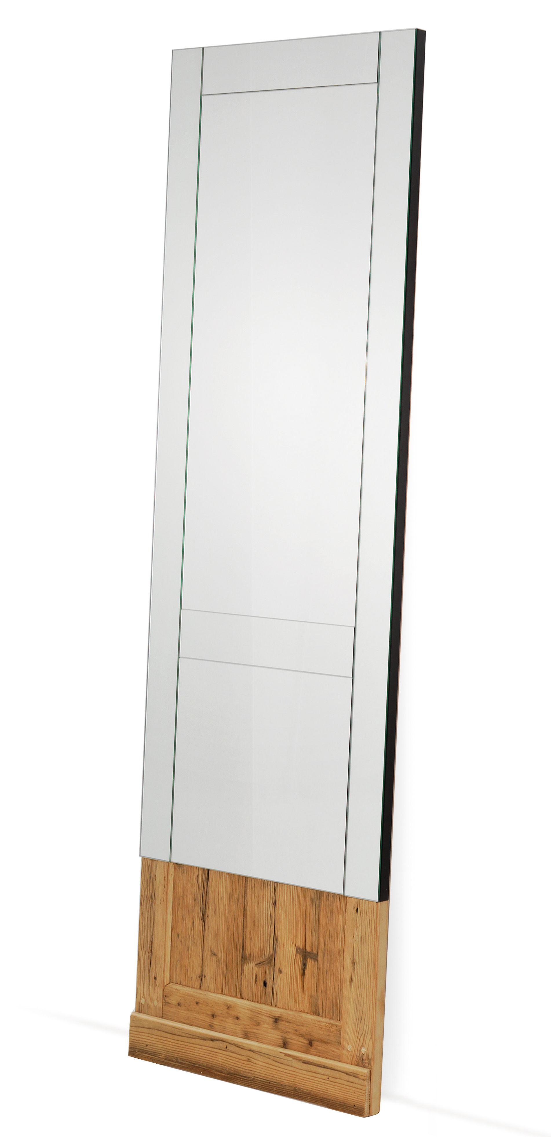 Déco - Miroirs - Miroir Don't Open / à poser ou suspendre - 60 x H 200 cm - Mogg - Miroir / Bois naturel - Mélèze, Verre