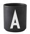 Arne Jacobsen Mug - / Porcelain - Letter A by Design Letters