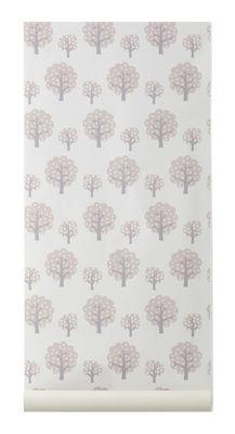 Déco - Pour les enfants - Papier peint Dotty / 1 rouleau - Larg 53 cm - Ferm Living - Rose pâle, gris, blanc - Toile intissée