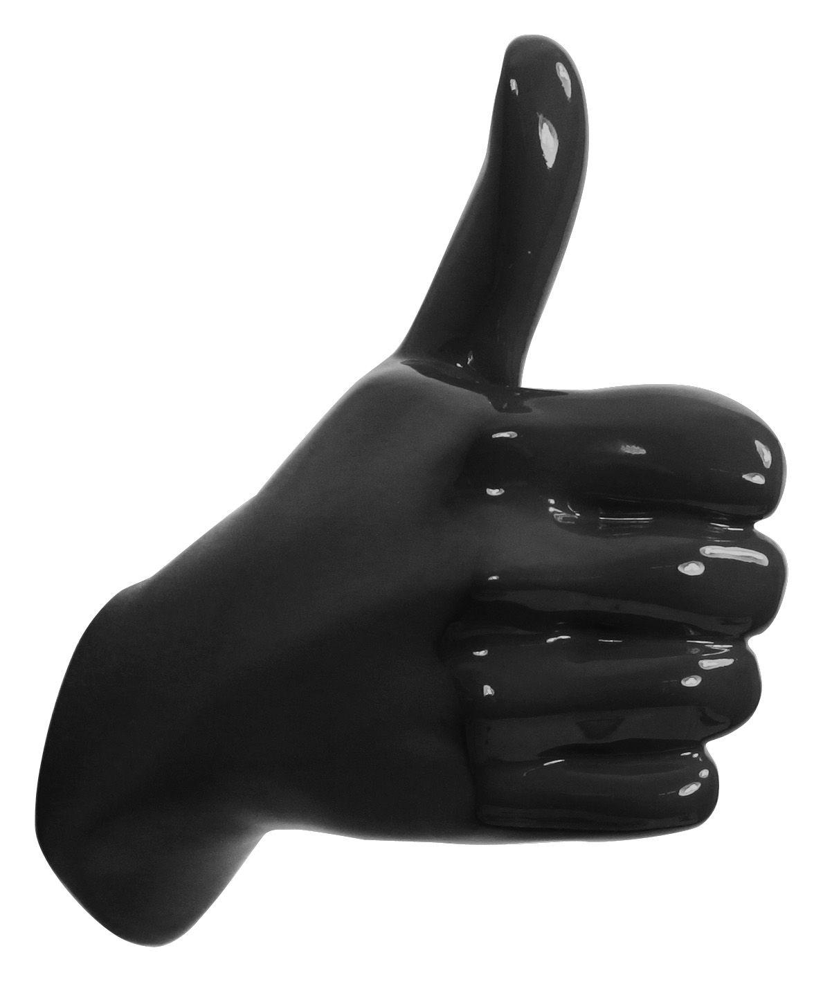 Mobilier - Portemanteaux, patères & portants - Patère Hand Job - Thumbs up Thumbs up - Thelermont Hupton - Noir - Résine laquée