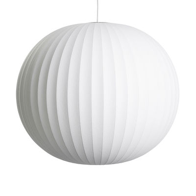 Lighting - Pendant Lighting - Bubble Ball Pendant - / Large - Vertical patterns by Hay - Ø 68 cm / Off-white - Steel