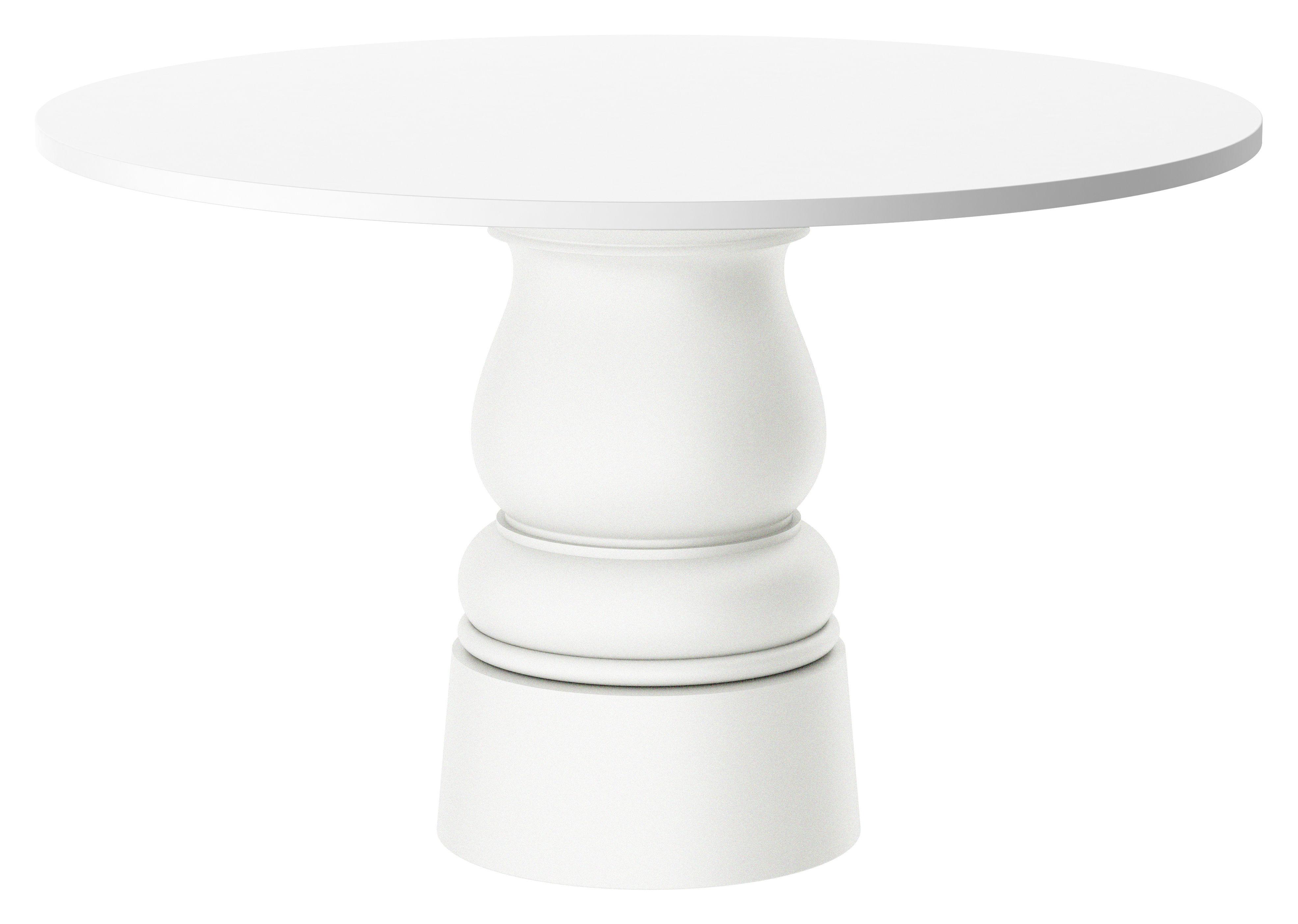 Jardin - Tables de jardin - Pied de table Container New Antique / H 71 cm - Pour plateau Ø 140 cm - Moooi - Pied blanc - Ø 43 x H 71 cm - Acier inoxydable, Polyéthylène