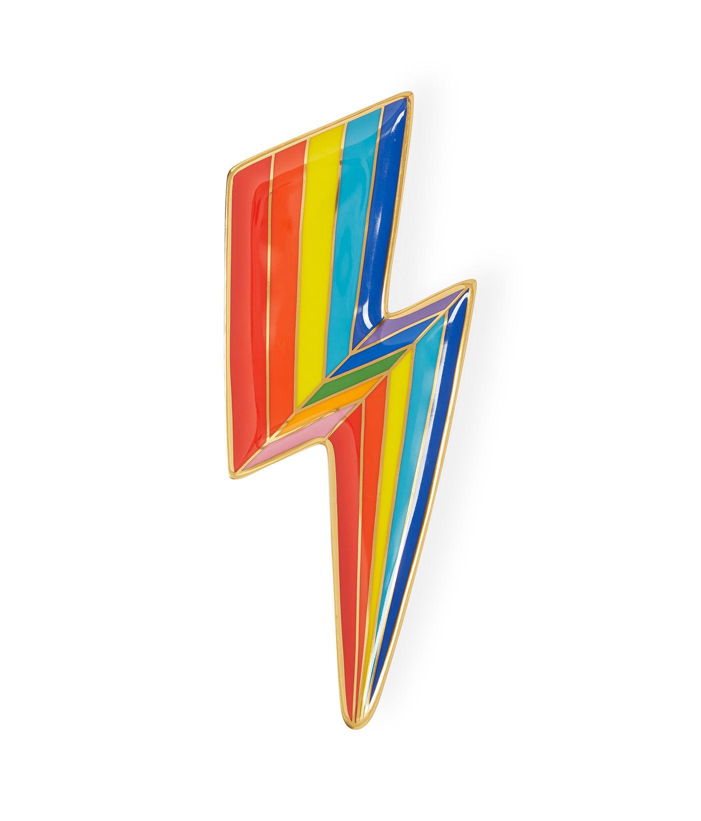 Arts de la table - Plateaux - Plateau Technicolor Bolt Trinket / Vide-poche - Porcelaine & or - Jonathan Adler - Technicolor Bolt / Multicolore - Or, Porcelaine