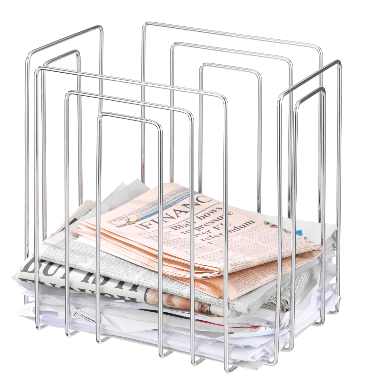 Déco - Pratique et malin - Porte-revues Paper Collector - L'atelier d'exercices - Chromé - Acier chromé