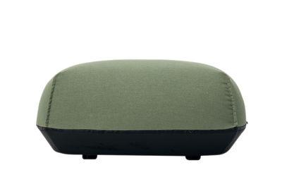 Pouf Brioni / Pour extérieur - Medium - Kristalia vert feuille en tissu