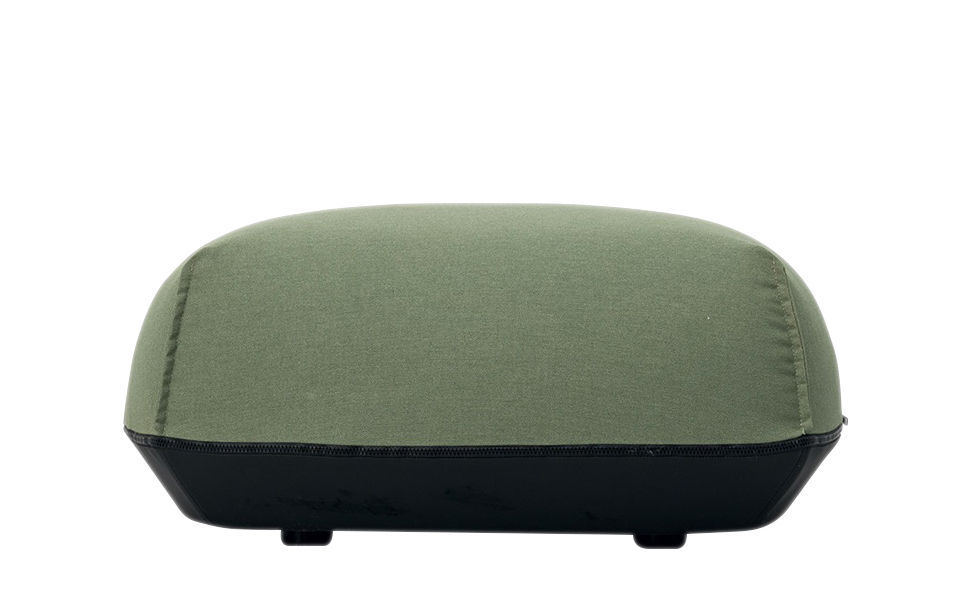 Mobilier - Poufs - Pouf Brioni / Pour extérieur - Medium - Kristalia - Vert Feuille - Polyester, Polyuréthane, Toile Sunbrella