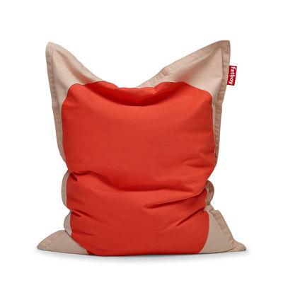 Furniture - Poufs & Floor Cushions - Original Slim Pop Pouf - / Cotton - 155 x 120 cm by Fatboy - Poppy -  Micro-billes EPS, Cotton