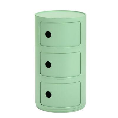 Mobilier - Tables basses - Rangement Componibili Bio / 3 tiroirs - Matériau naturel & biodégradable - Kartell - Vert - Bioplastique Bio-On