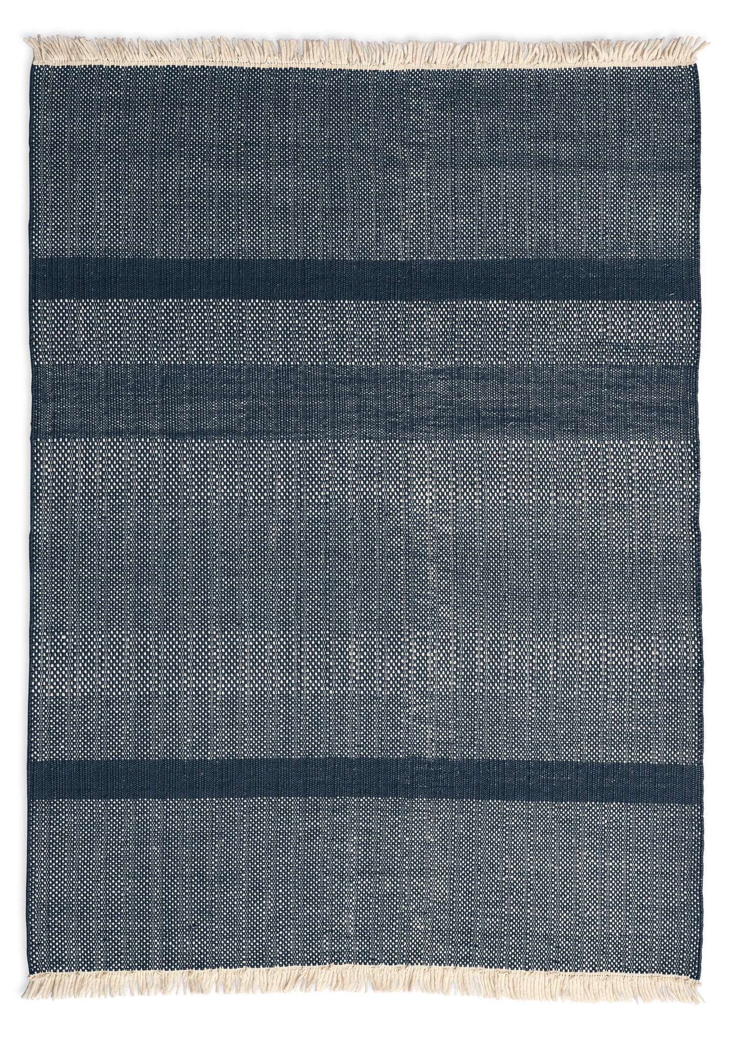 Decoration - Rugs - Tres Texture Rug - 170 x 240 cm by Nanimarquina - Blue - Felt, New-zealand wool