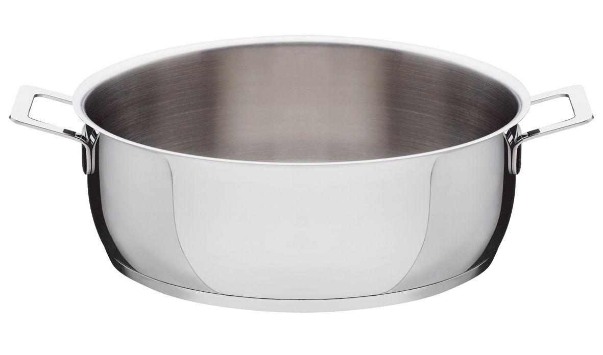 Küche - Pfannen, Koch- und Schmortöpfe - Pots and Pans Rundholz Zwei Handgriffe - A di Alessi - Ø 28 cm - rostfreier Stahl