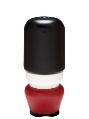 Eierbecher - Salz, Pfeffer und Gewürze - Major Pepper Salz- und Pfeffer-Set / 2-in-1-Accessoire - Pa Design - Rot & schwarz - Polypropylen
