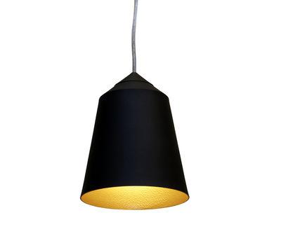 Illuminazione - Lampadari - Sospensione Circus Small - Ø 15 x H 19 cm di Innermost - Nero opaco / Interno dorato - Alluminio