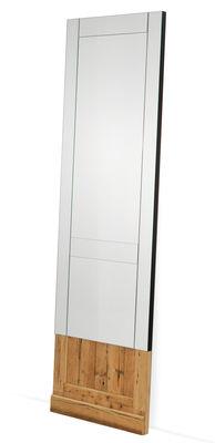 Interni - Specchi - Specchio Don't Open - / L 60 x H 200 cm di Mogg - Specchio / Legno naturale - Larice, Vetro