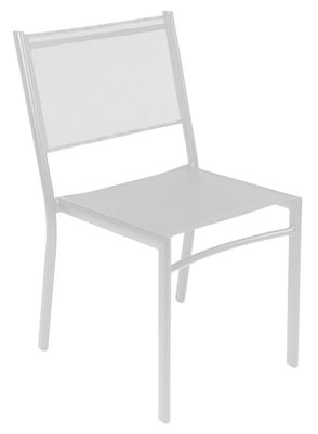 Outdoor - Chairs - Costa Stacking chair by Fermob - White - Aluminium, Cloth