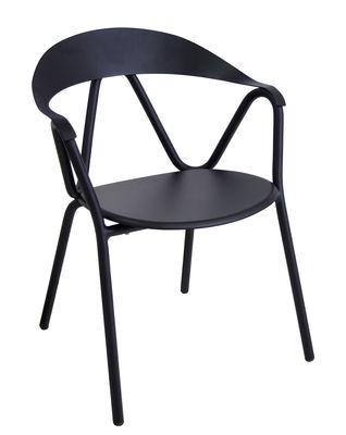Reef Stapelbarer Sessel / Metall - Emu - Schwarz