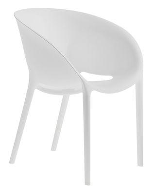 Möbel - Stühle  - Soft Egg Stapelbarer Sessel - Driade - Weiß - Polypropylen