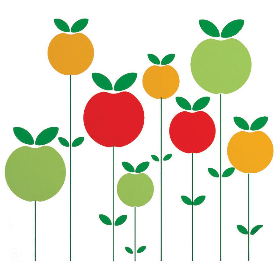 Interni - Sticker - Sticker Pom di Domestic - Rosso / giallo / verde - Vinile