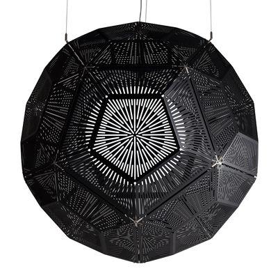 Luminaire - Suspensions - Suspension Ball - Ø 120 cm - Tom Dixon - Noir - Rosace chromée - Aluminium à finition mate